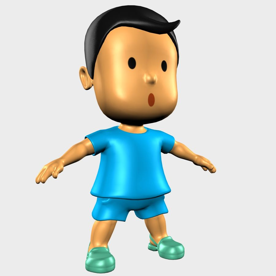 Boy Character Cartoon royalty-free 3d model - Preview no. 1