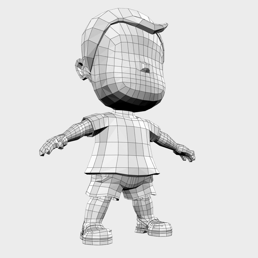Boy Character Cartoon royalty-free 3d model - Preview no. 21
