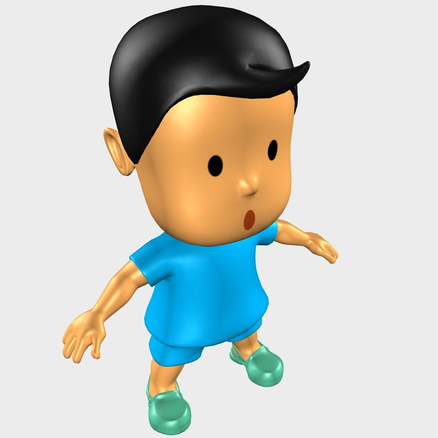 Boy Character Cartoon royalty-free 3d model - Preview no. 5