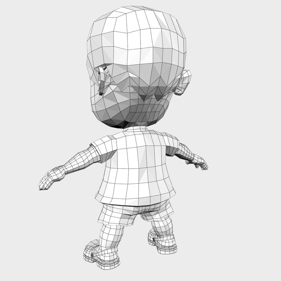 Boy Character Cartoon royalty-free 3d model - Preview no. 23