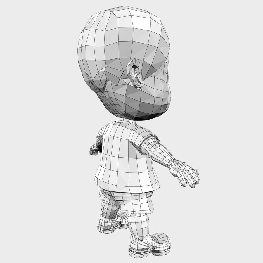 Boy Character Cartoon royalty-free 3d model - Preview no. 24