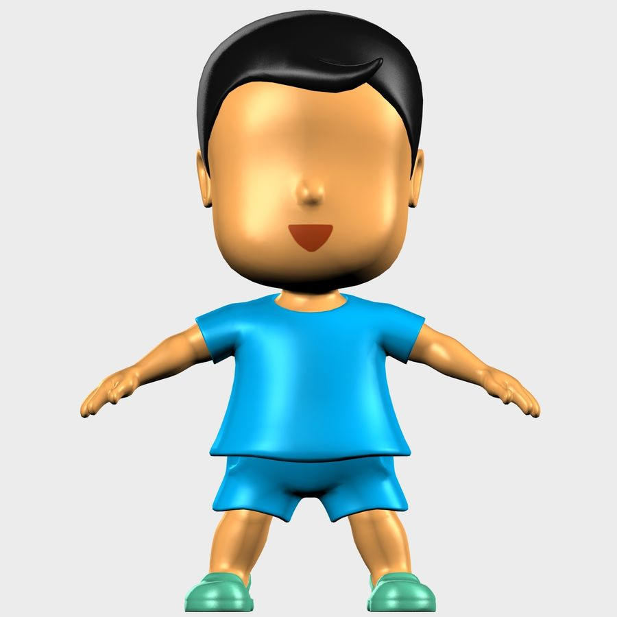 Boy Character Cartoon royalty-free 3d model - Preview no. 18