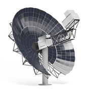 Solar Dish 3D Model 3d model