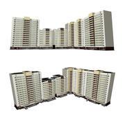 Bostadshus i flera våningar 3d model