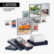 L3DV05G04 - ramki na zdjęcia i plakaty z 3 wielobocznymi poziomami 3d model