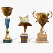 Trophy Cups lowpoly 3d model