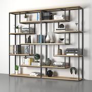 boekenkast loft 3d model