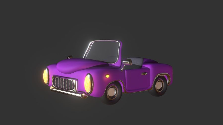 Toon Car royalty-free 3d model - Preview no. 2
