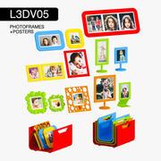 L3DV05G06 - ramki na zdjęcia dla dzieci i plakaty z 3 poziomami wielokątnymi 3d model