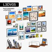 L3DV05G07 - ramki na zdjęcia i plakaty z 3 wielobocznymi poziomami 3d model