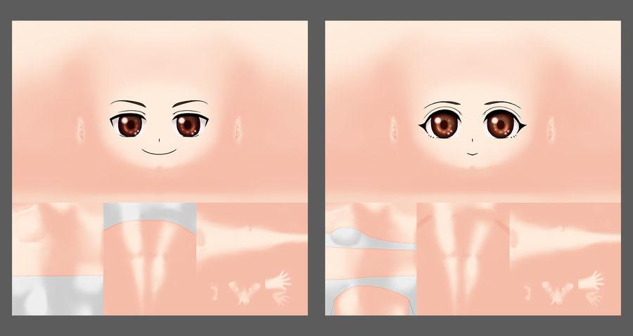 Handbemaltes Chibi Character Base Mesh royalty-free 3d model - Preview no. 5