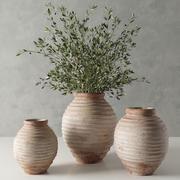 19 th c. terra-cotta olive jar 3d model