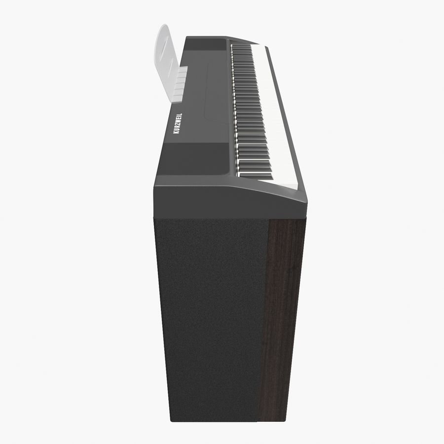 пиано royalty-free 3d model - Preview no. 5