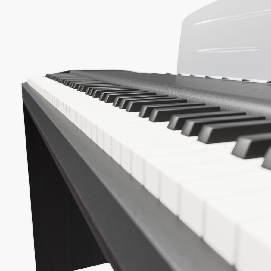 пиано royalty-free 3d model - Preview no. 8