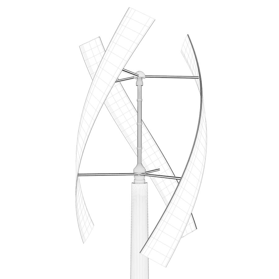 vertical wind generator royalty-free 3d model - Preview no. 5