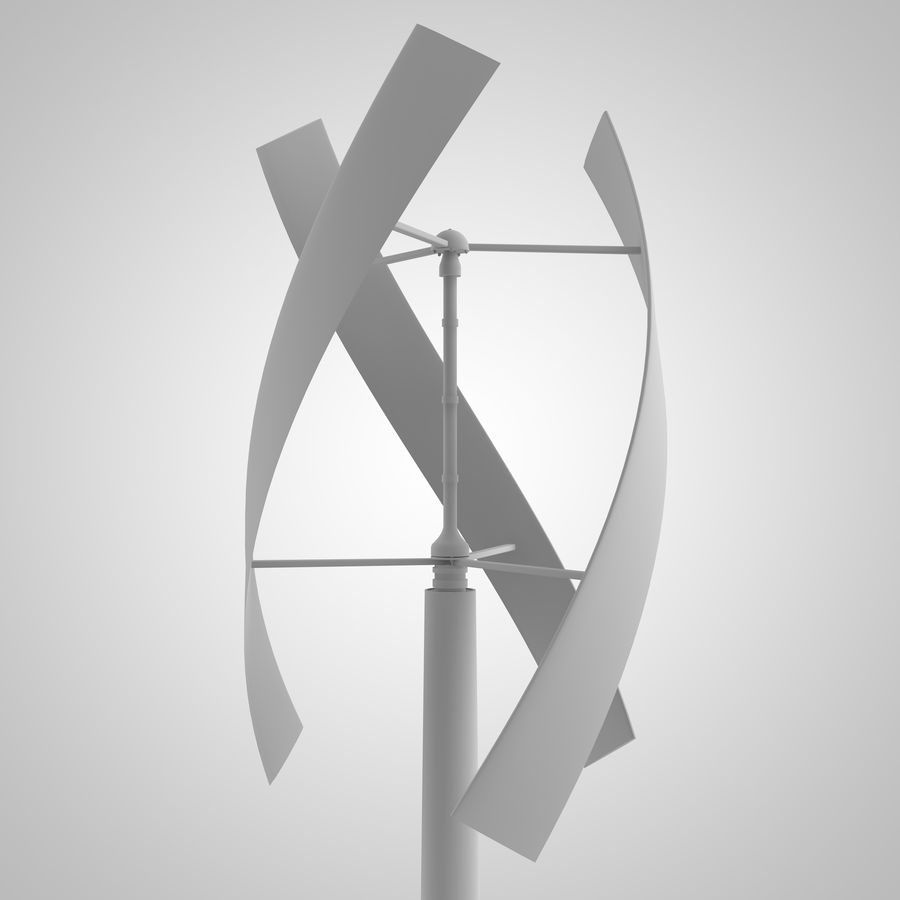 vertical wind generator royalty-free 3d model - Preview no. 1
