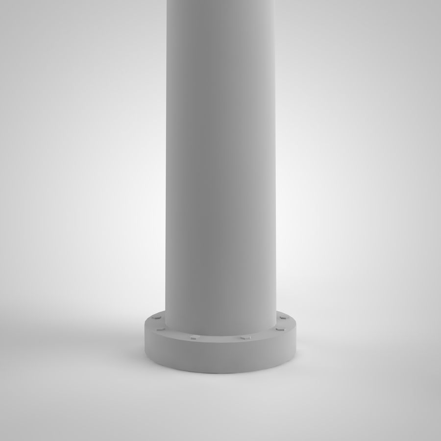 vertical wind generator royalty-free 3d model - Preview no. 3