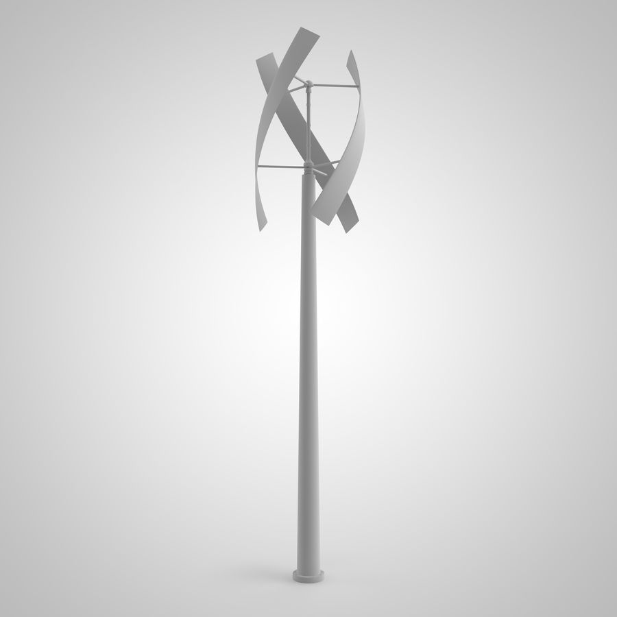 vertical wind generator royalty-free 3d model - Preview no. 4