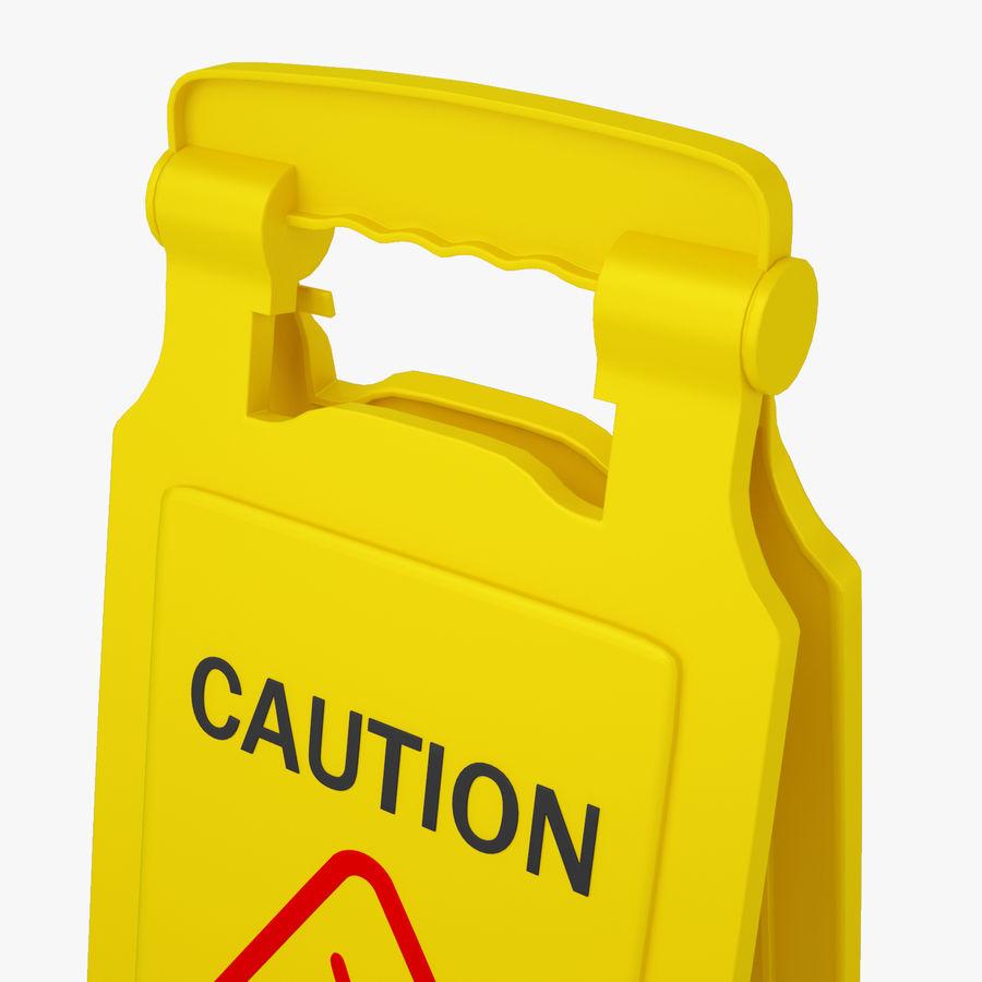 Cuidado piso molhado sinal de segurança modelo 3D royalty-free 3d model - Preview no. 5