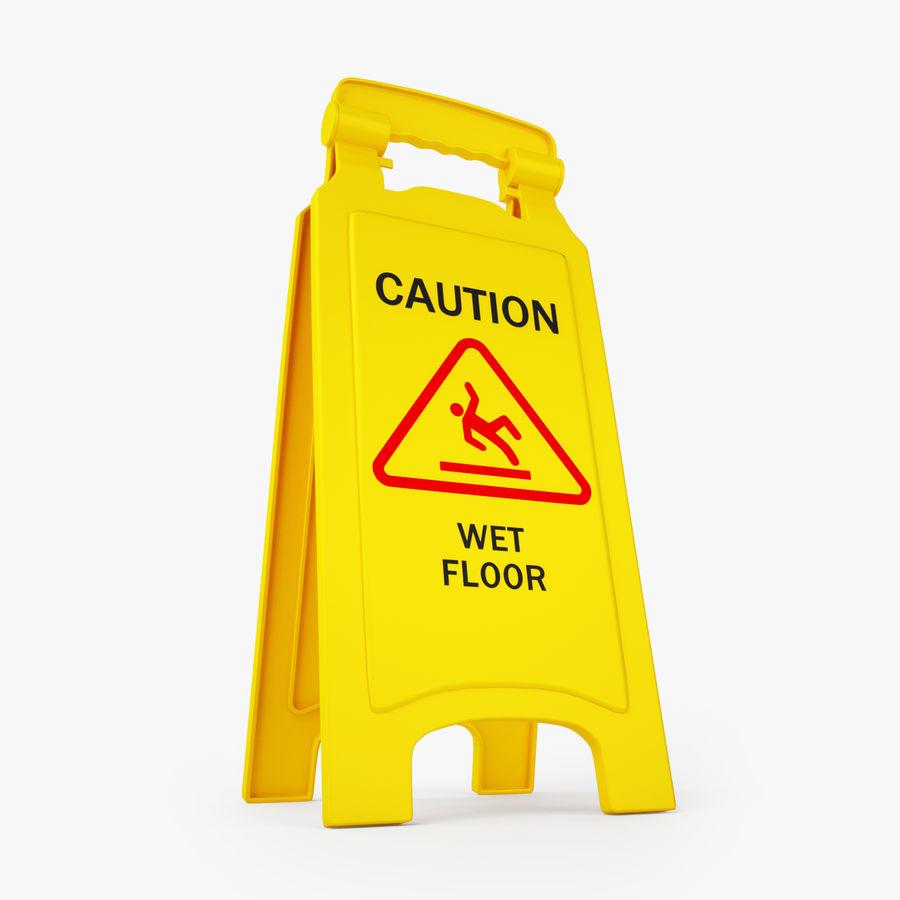 Cuidado piso molhado sinal de segurança modelo 3D royalty-free 3d model - Preview no. 2