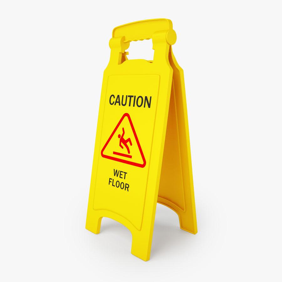 Cuidado piso molhado sinal de segurança modelo 3D royalty-free 3d model - Preview no. 1