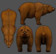 Медведь 3d Низкополигональная 3D модель 3d model