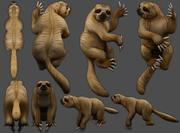 sloth Low-poly 3d model