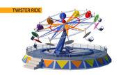 Twister yolculuk 3d model