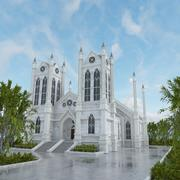 CHURCH CATHEDRAL CLASSICAL BUILDING OLD 3d model