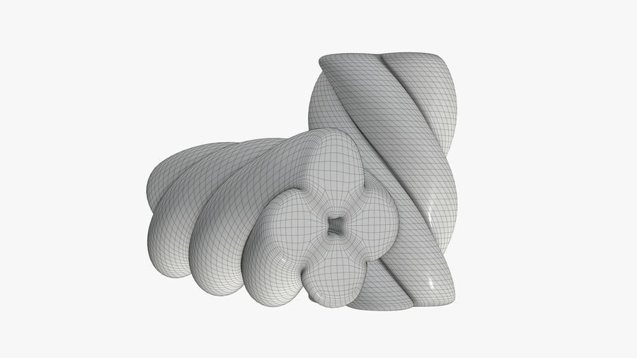 Marshmallows candy cylindrical twisted royalty-free 3d model - Preview no. 9