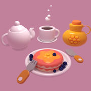 Mug Théière Pancake 3d model