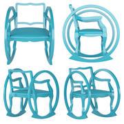 Детское кресло-качалка 3d model