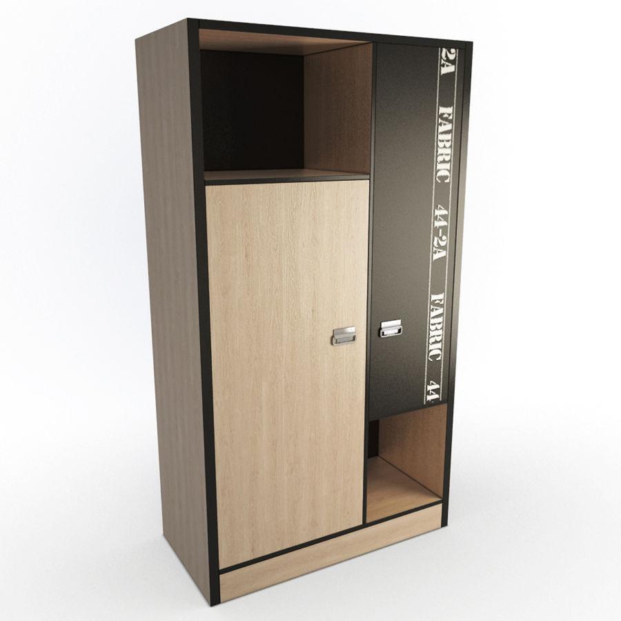 Спальня Подростковая Набор 01 royalty-free 3d model - Preview no. 12