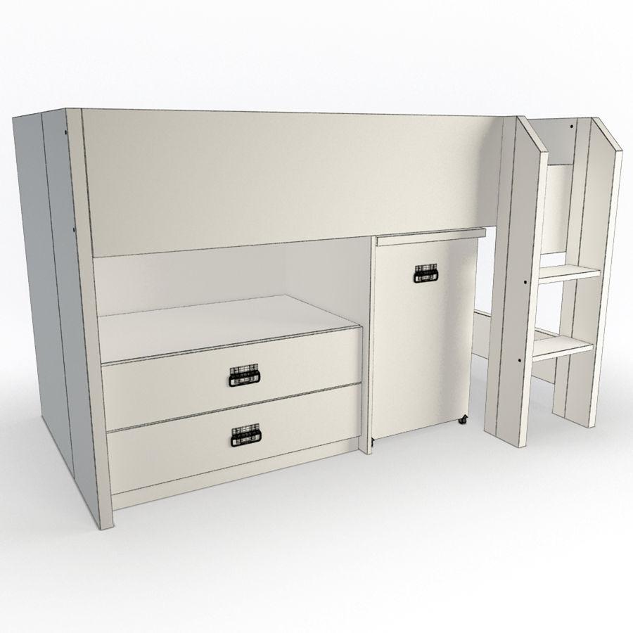 Спальня Подростковая Набор 01 royalty-free 3d model - Preview no. 7