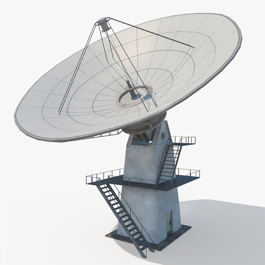 Satellietschotel - antenne royalty-free 3d model - Preview no. 1