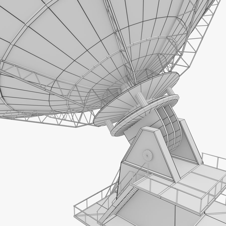 Satellietschotel - antenne royalty-free 3d model - Preview no. 6