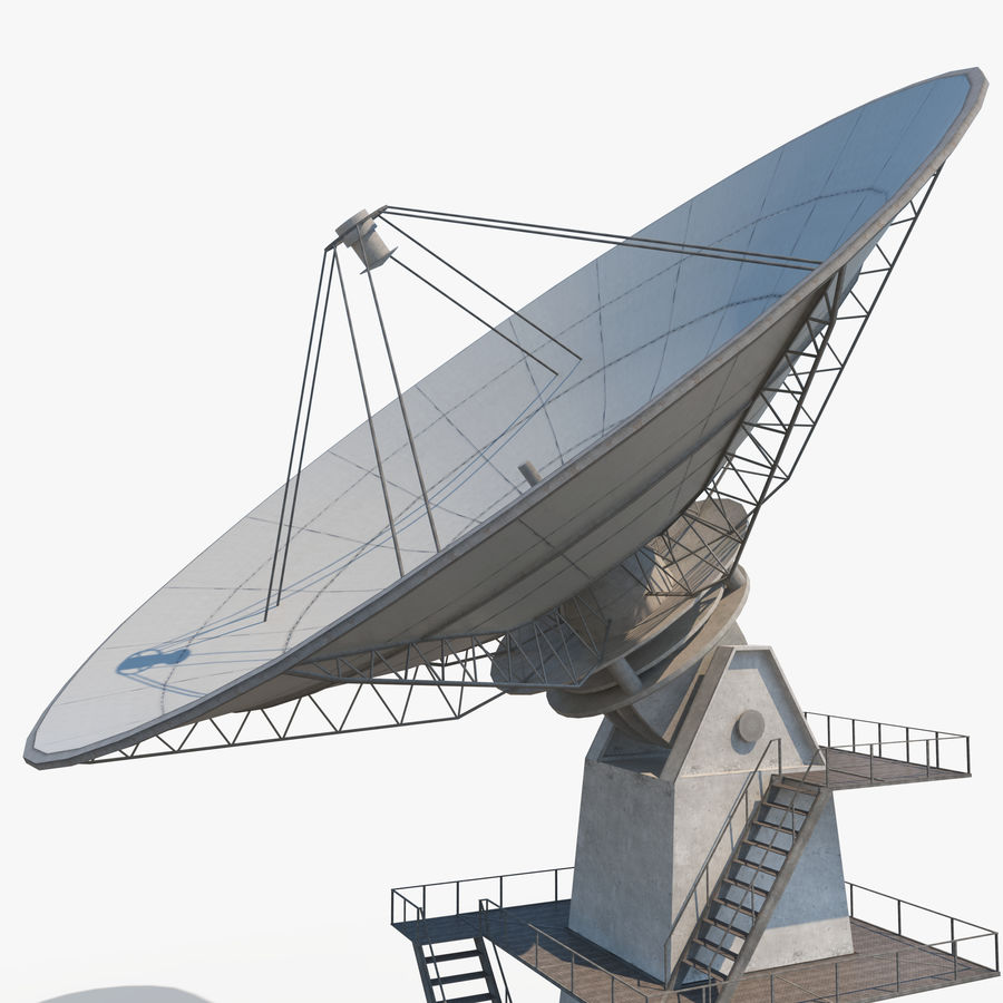 Satellite Dish - Antenna royalty-free 3d model - Preview no. 4