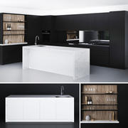 Glamour Black Kitchen von Laminex 3d model