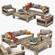 Conjunto de mobiliário de exterior 3d model