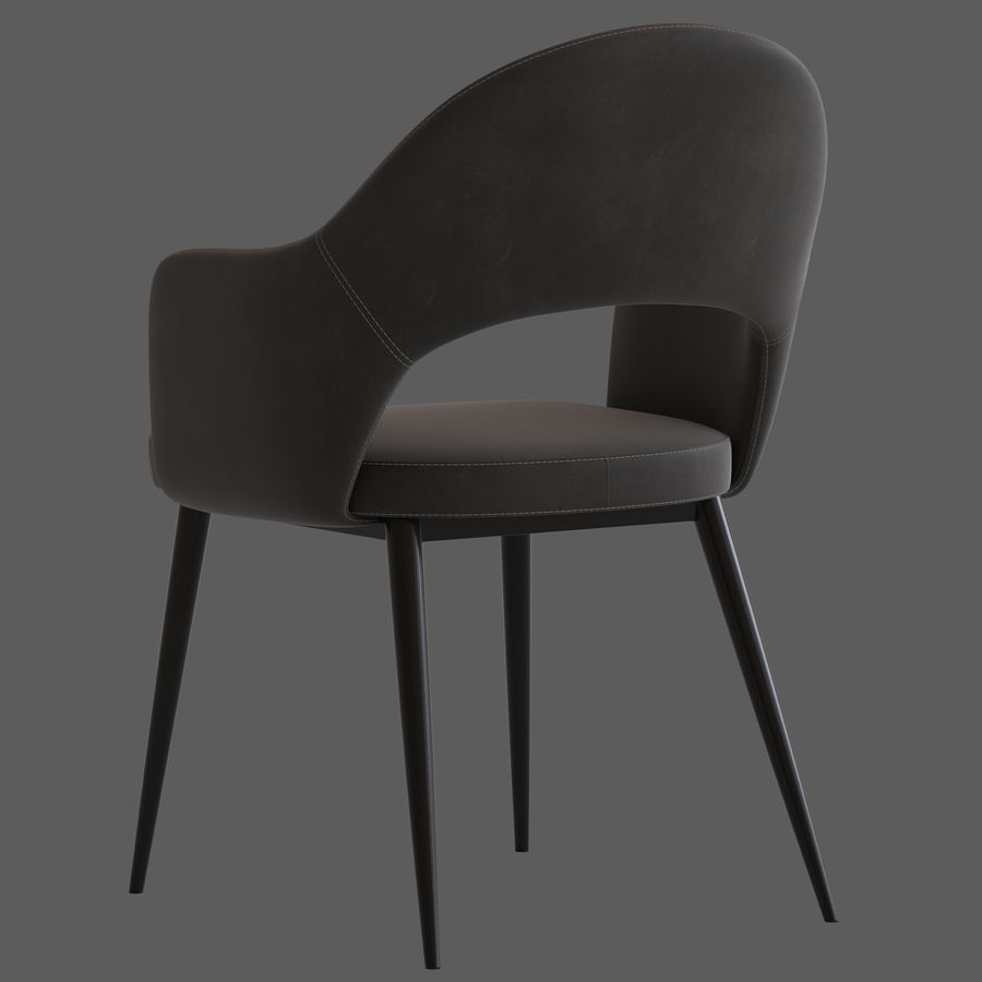 Cult Furniture Haines Chair royalty-free 3d model - Preview no. 5