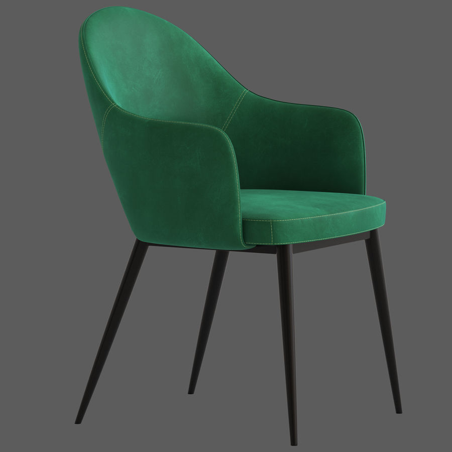 Cult Furniture Haines Chair royalty-free 3d model - Preview no. 4