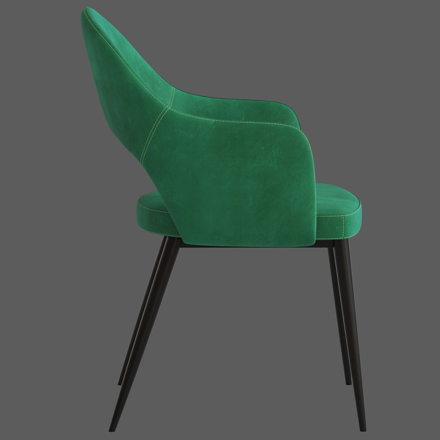 Cult Furniture Haines Chair royalty-free 3d model - Preview no. 7