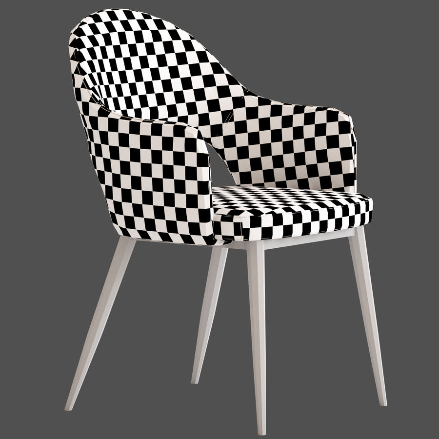 Cult Furniture Haines Chair royalty-free 3d model - Preview no. 10