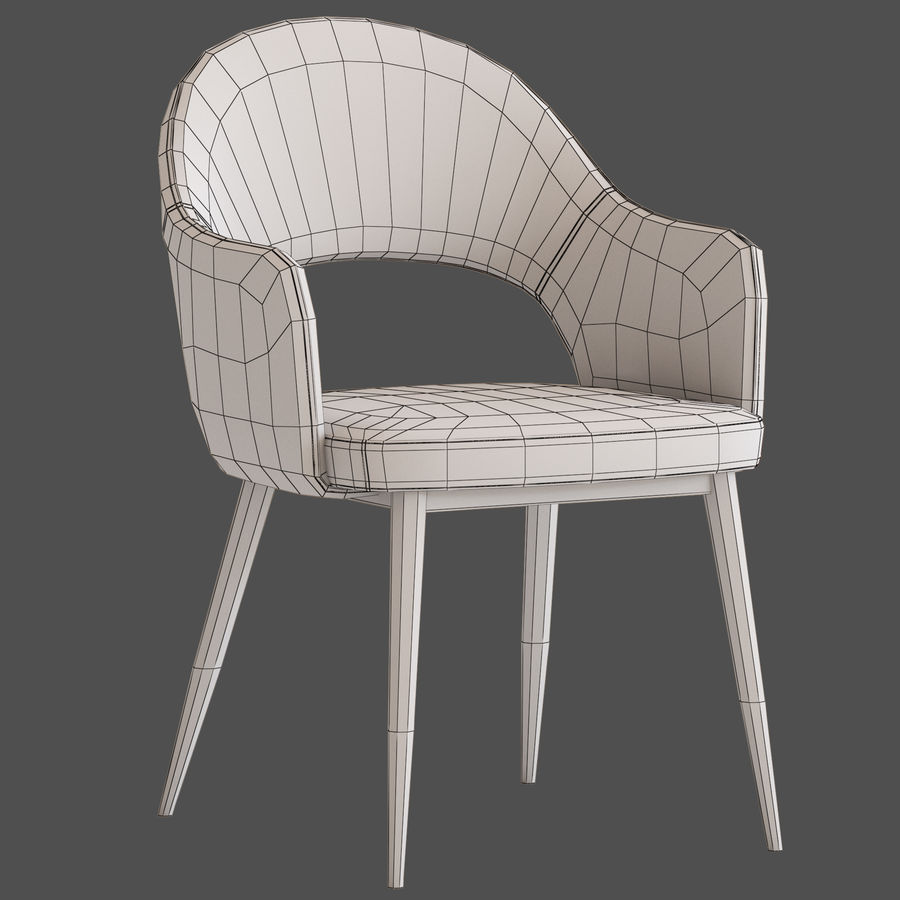 Cult Furniture Haines Chair royalty-free 3d model - Preview no. 9