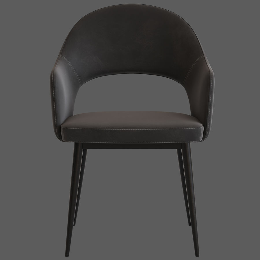 Cult Furniture Haines Chair royalty-free 3d model - Preview no. 6