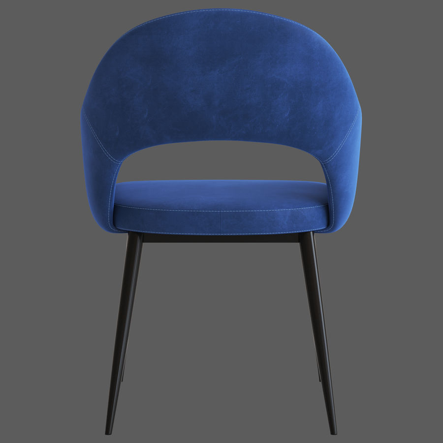 Cult Furniture Haines Chair royalty-free 3d model - Preview no. 8