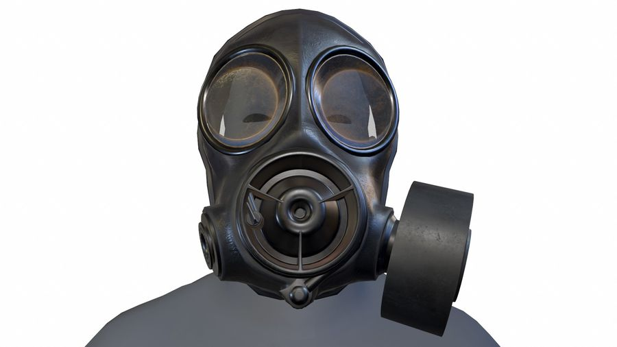 Maschera antigas royalty-free 3d model - Preview no. 5
