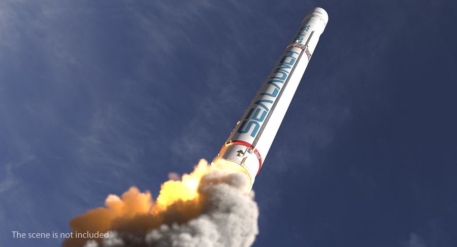Space Rockets Collection royalty-free 3d model - Preview no. 25