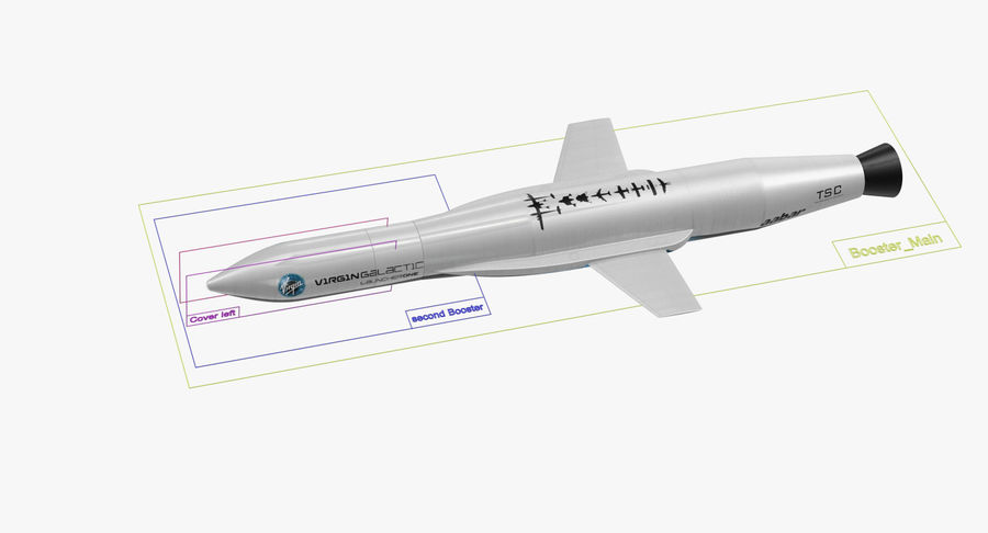 Space Rockets Collection royalty-free 3d model - Preview no. 53