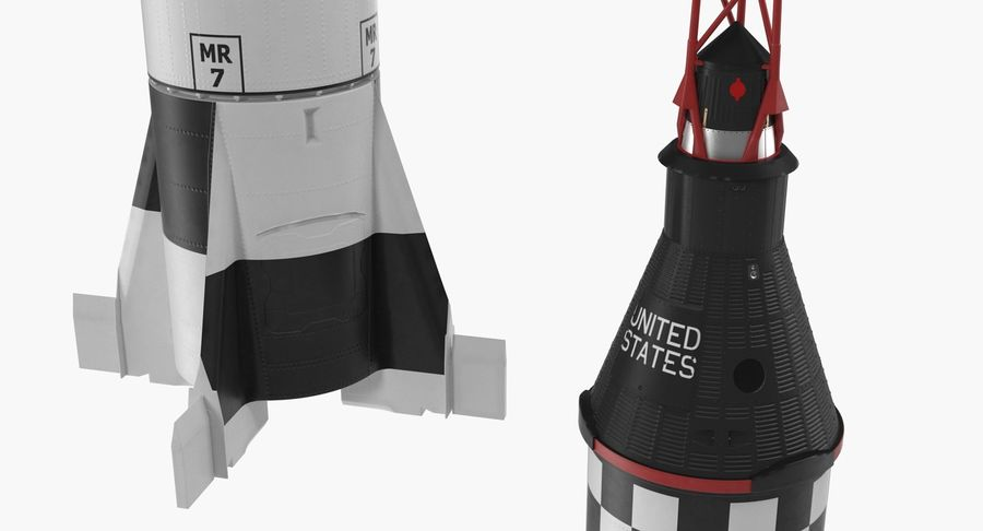 Space Rockets Collection royalty-free 3d model - Preview no. 44